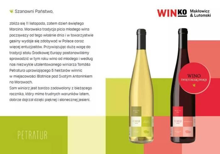 Win-Ko wino Świętomarcińskie z winnicy Petratur